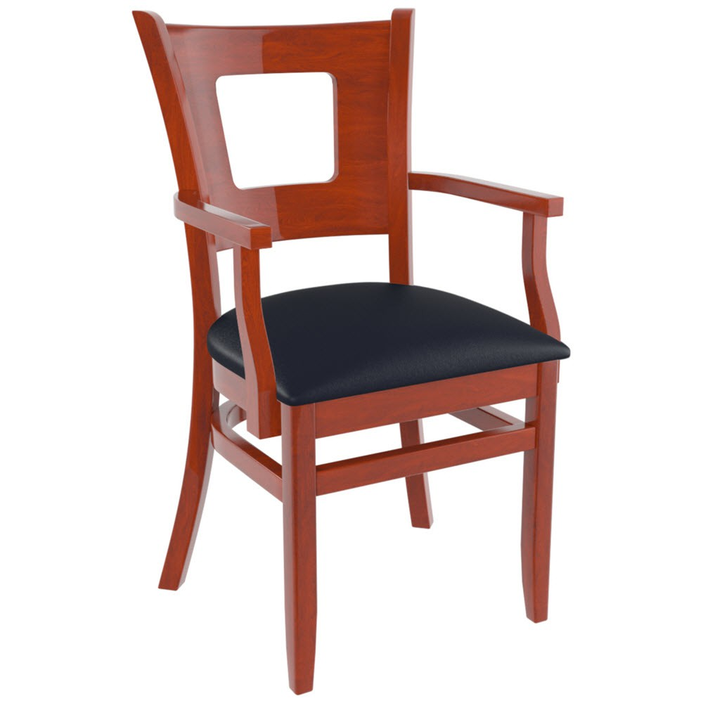Premium usa made duna restaurant chair with arms