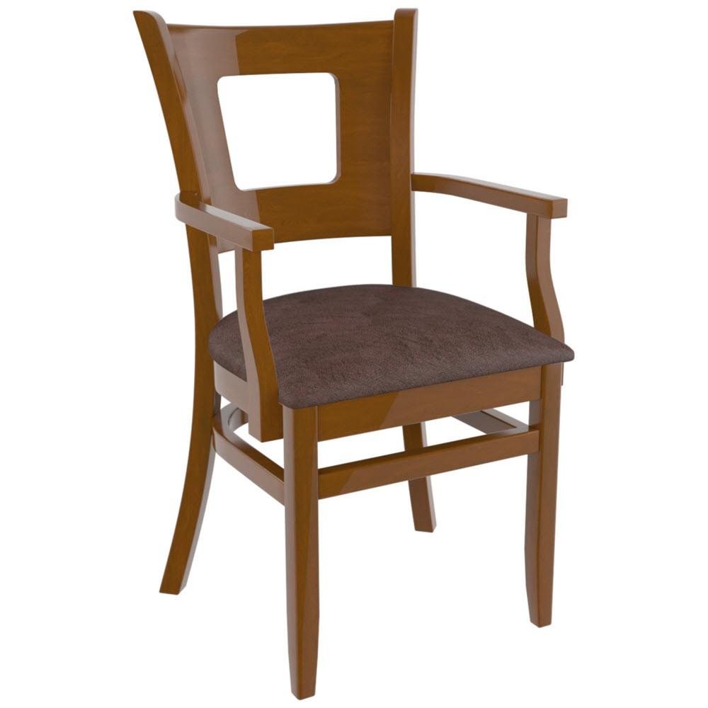 Premium Usa Made Duna Restaurant Chair With Arms