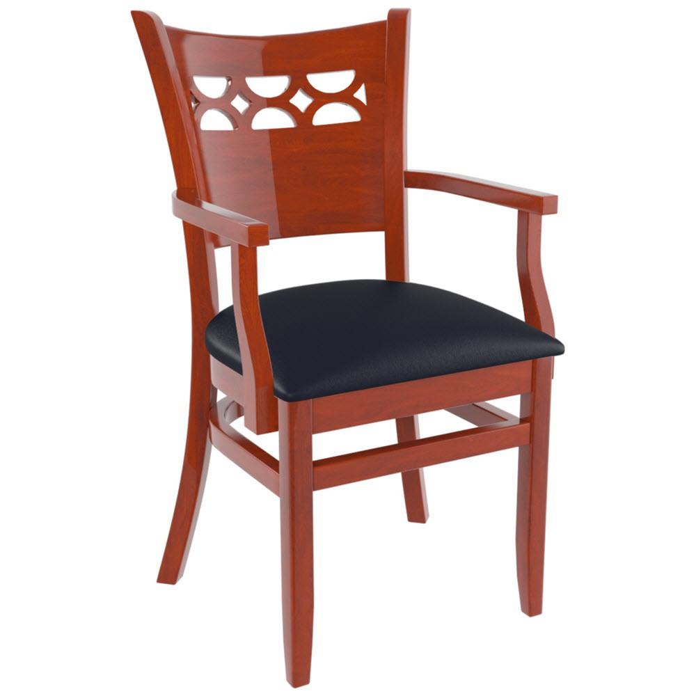 Premium US Made Leonardo Wood Chair With Arms