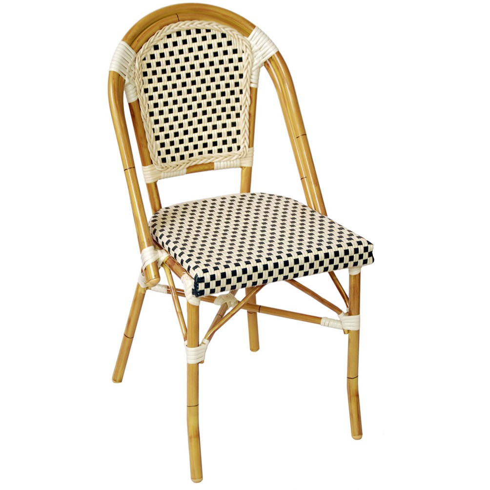 Aluminum bamboo chair for patio for Bamboo outdoor furniture