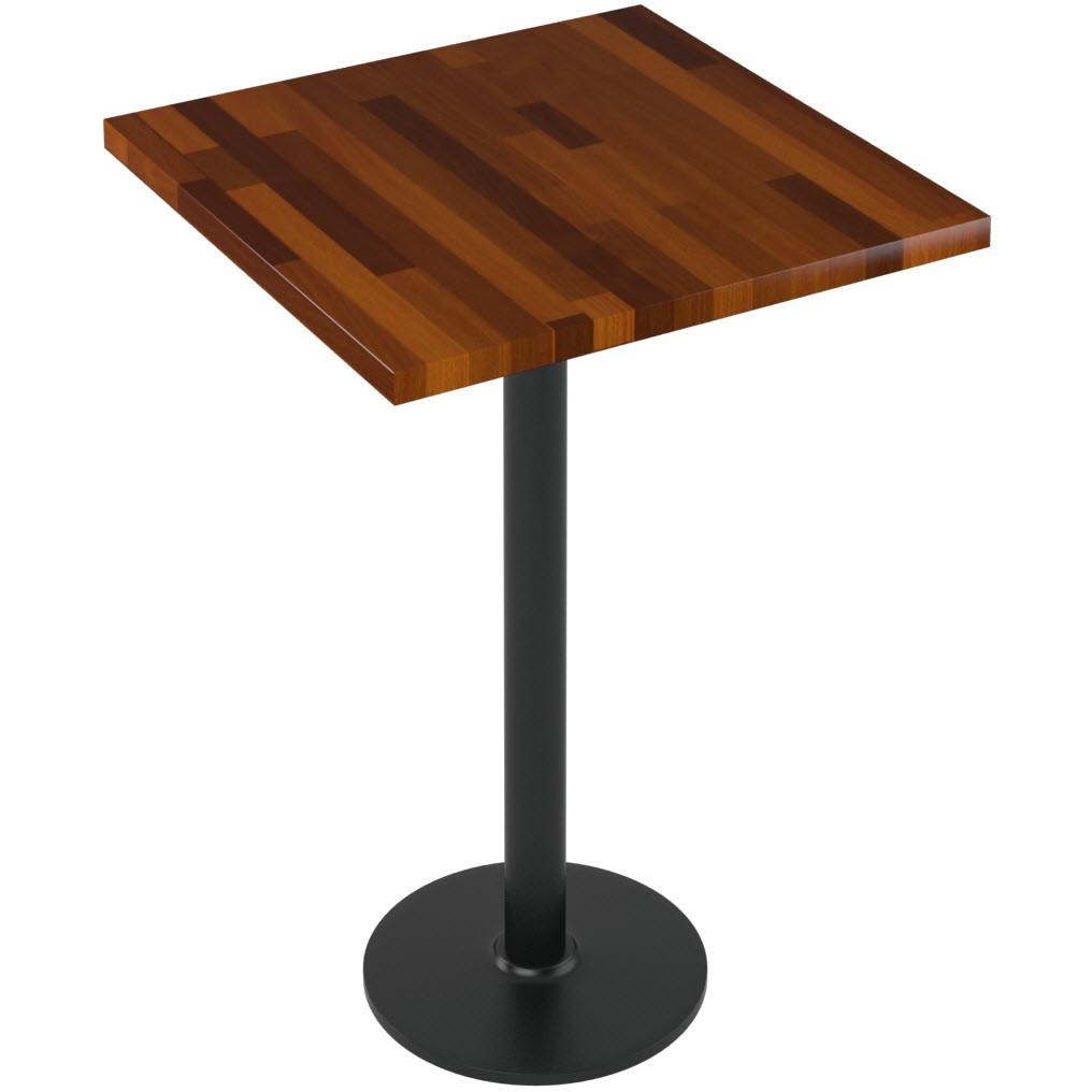 premium solid wood butcher block restaurant table bar height. Black Bedroom Furniture Sets. Home Design Ideas