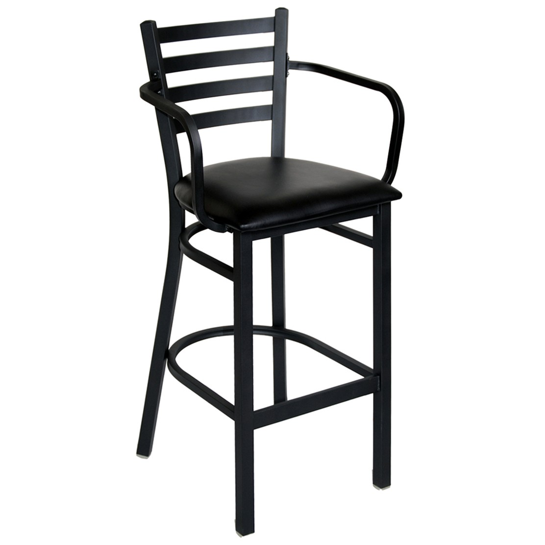 Ladder back metal bar stool with arms for Bar stools with arms