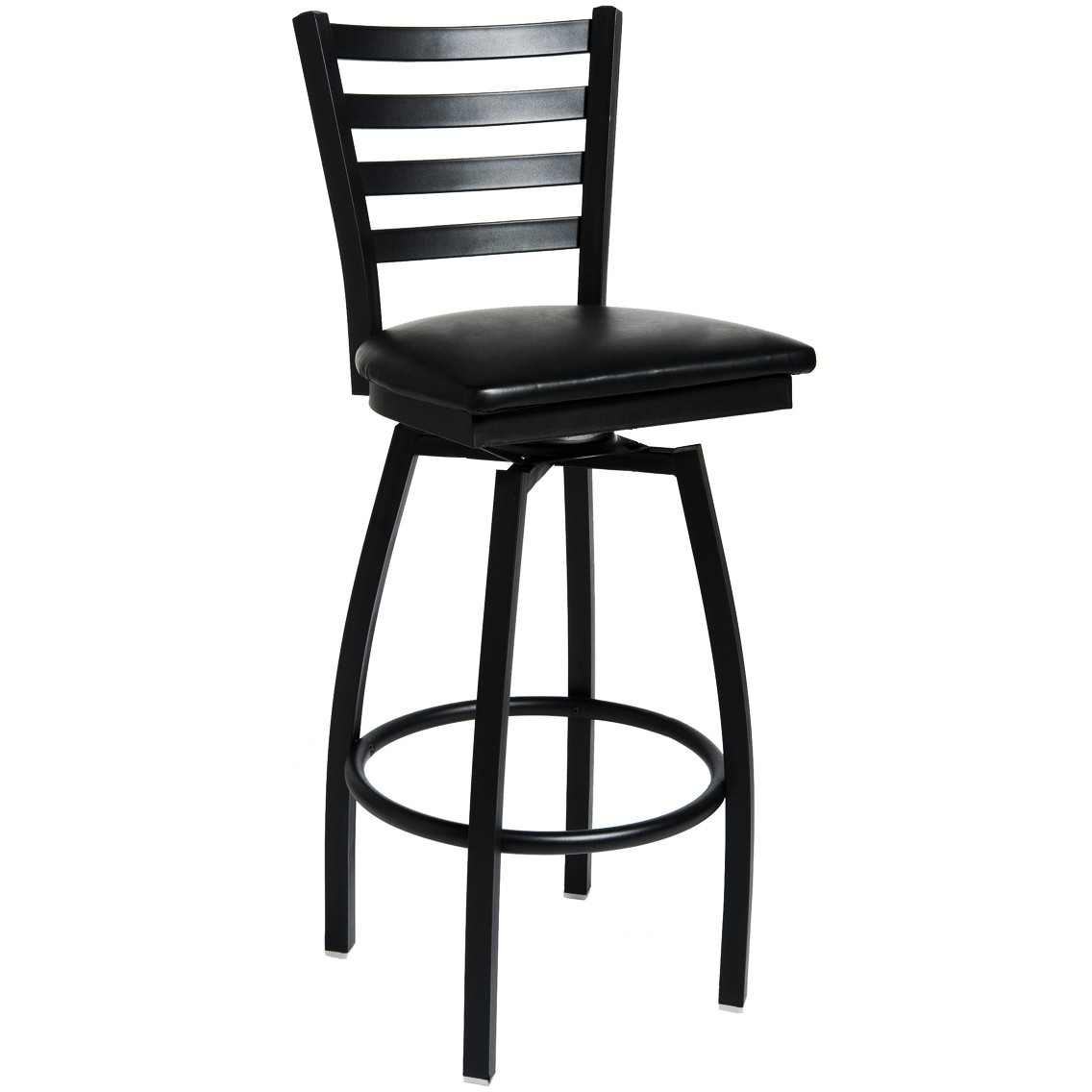 swivel ladder back metal bar stool. Black Bedroom Furniture Sets. Home Design Ideas