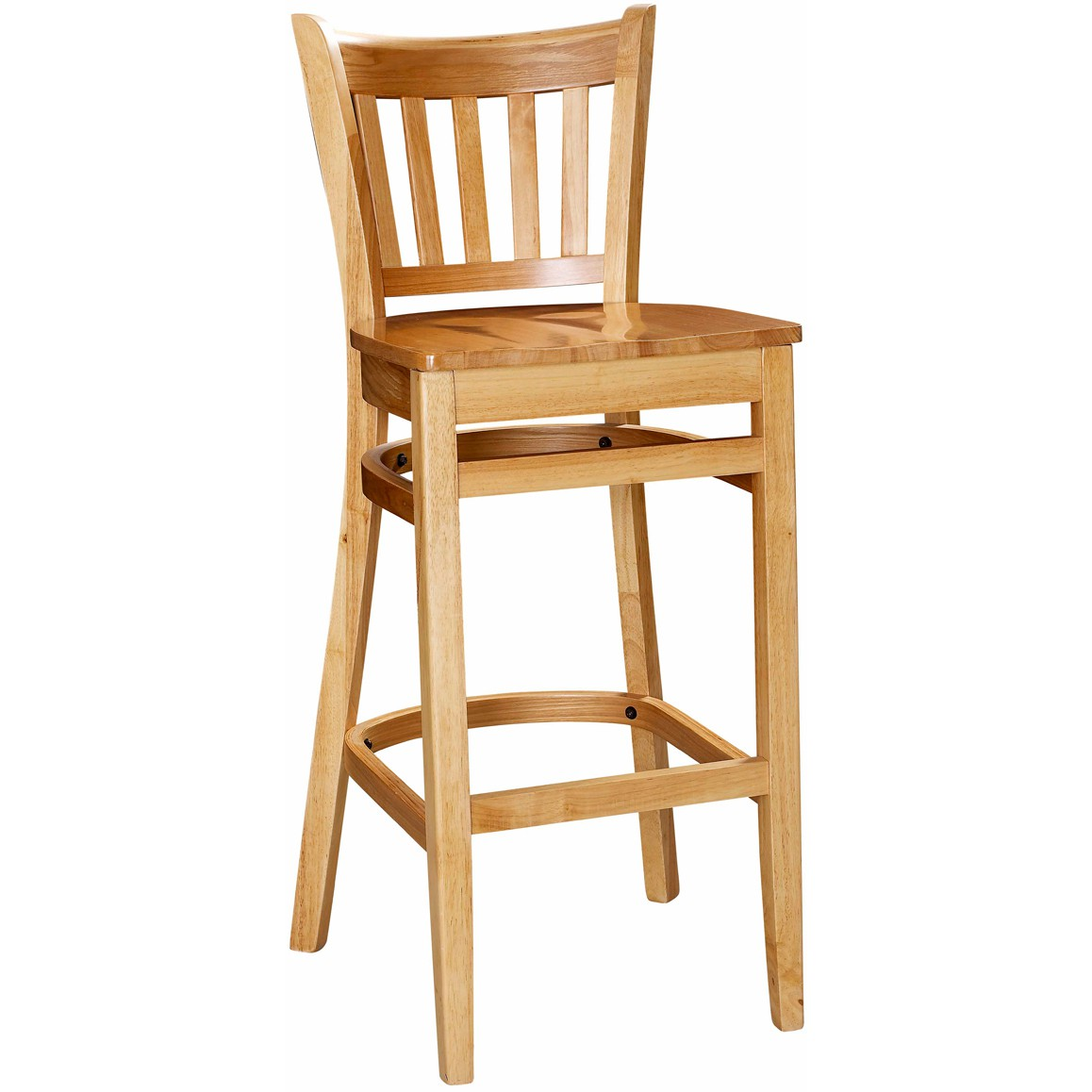Vertical Slat Wood Bar Stool For Sale Restaurant Barstools