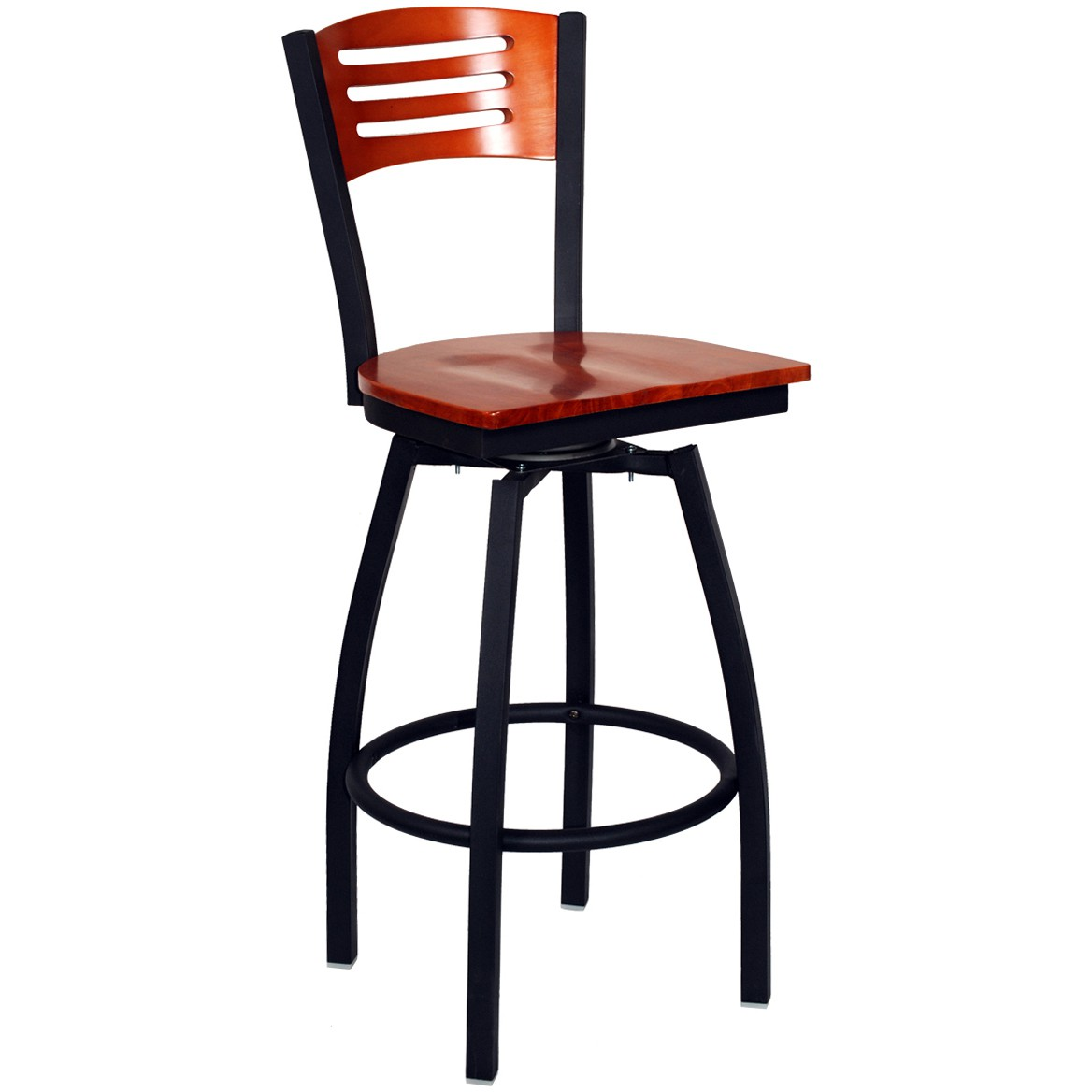 Very Impressive portraiture of Interchangeable Back Metal Swivel Bar Stool with 3 Slats #FRU 131 BS with #BE340D color and 1168x1168 pixels