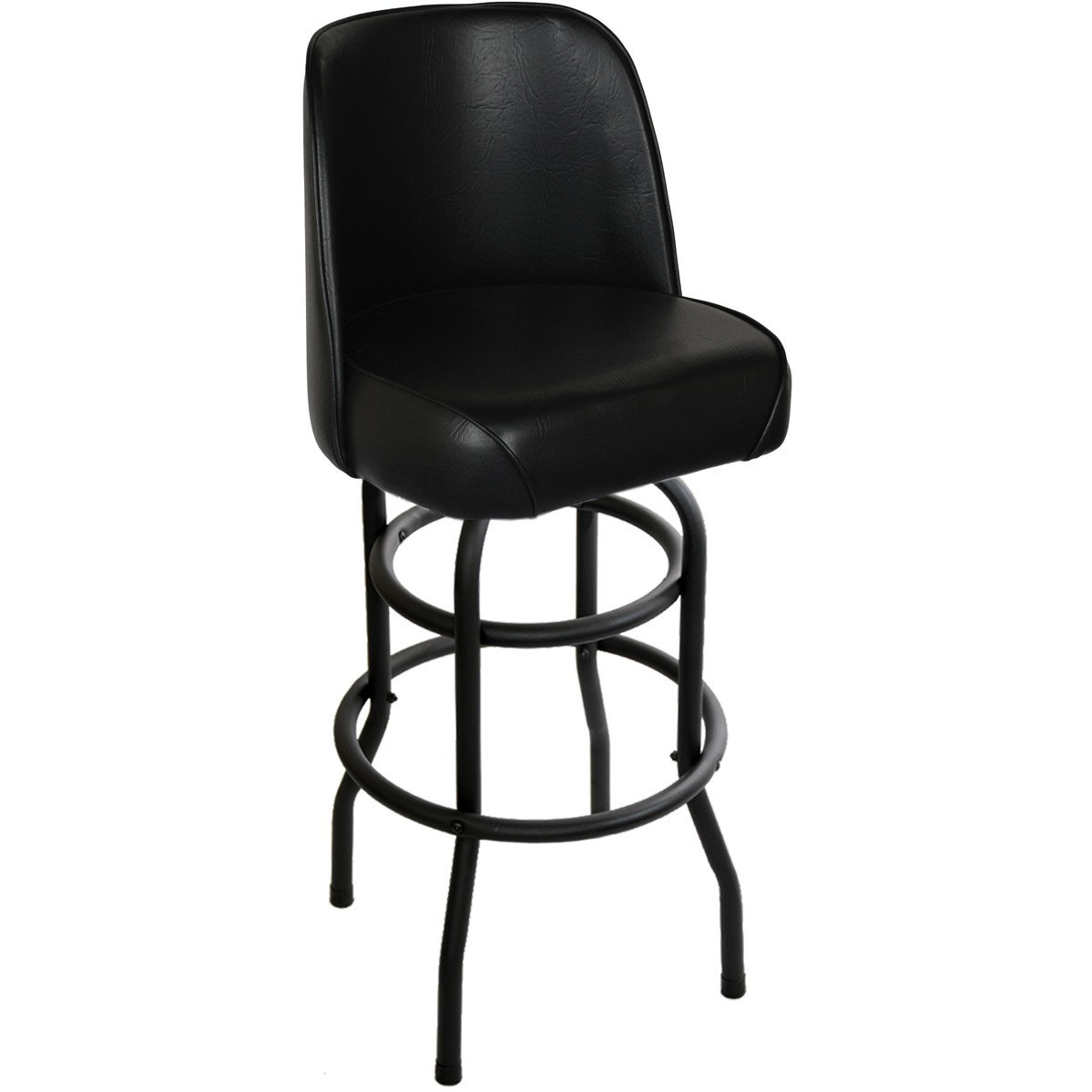 Double Ring mercial Grade Swivel Bar Stool