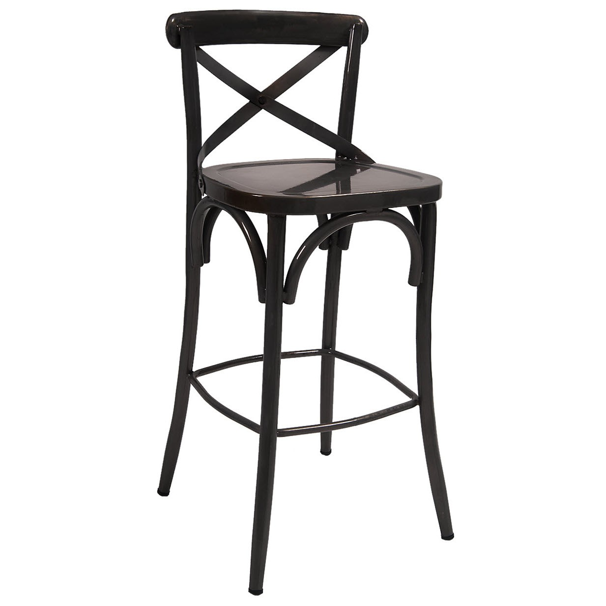 Classic X Back Metal Bar Stool