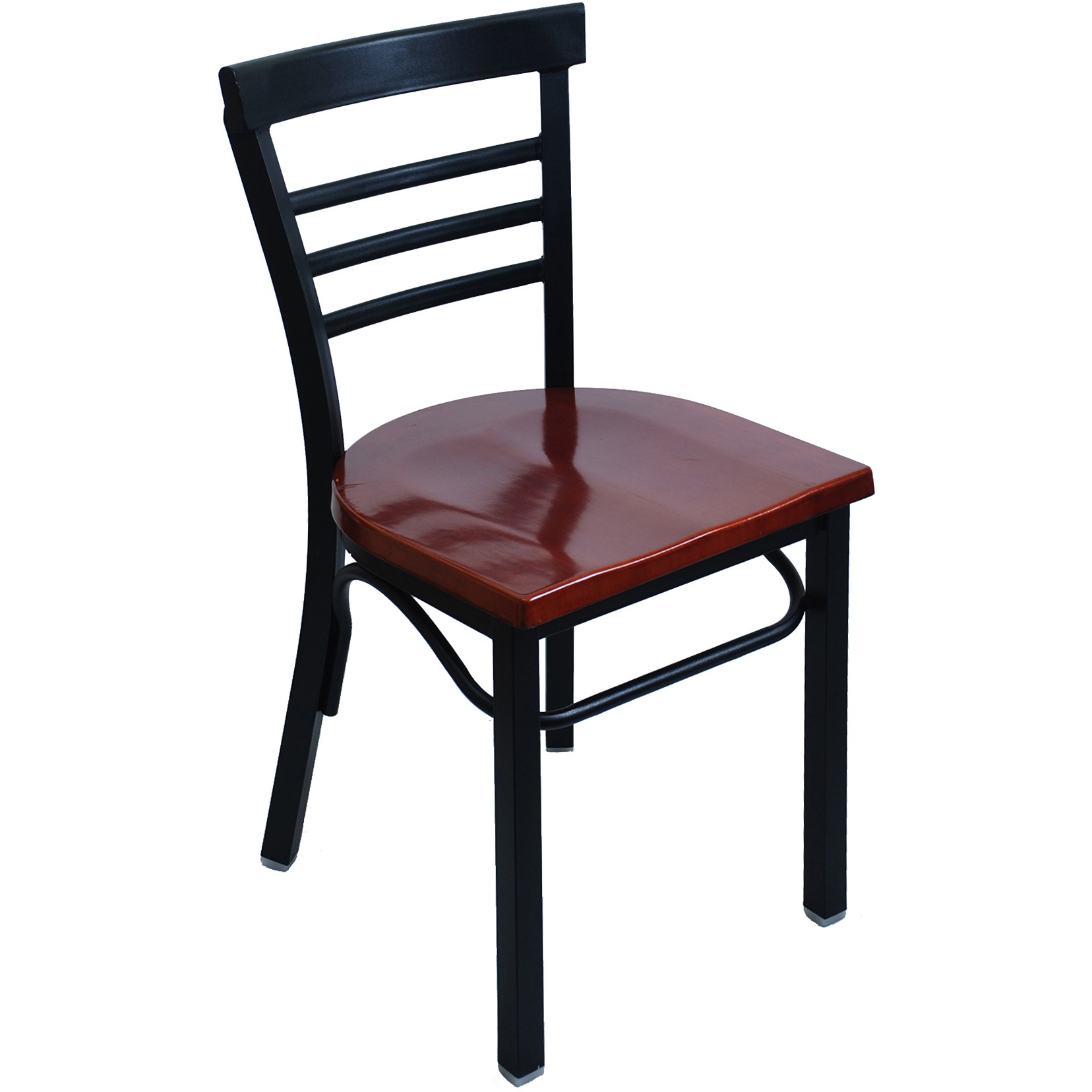 Rounded Ladder Back Metal Restaurant Chair
