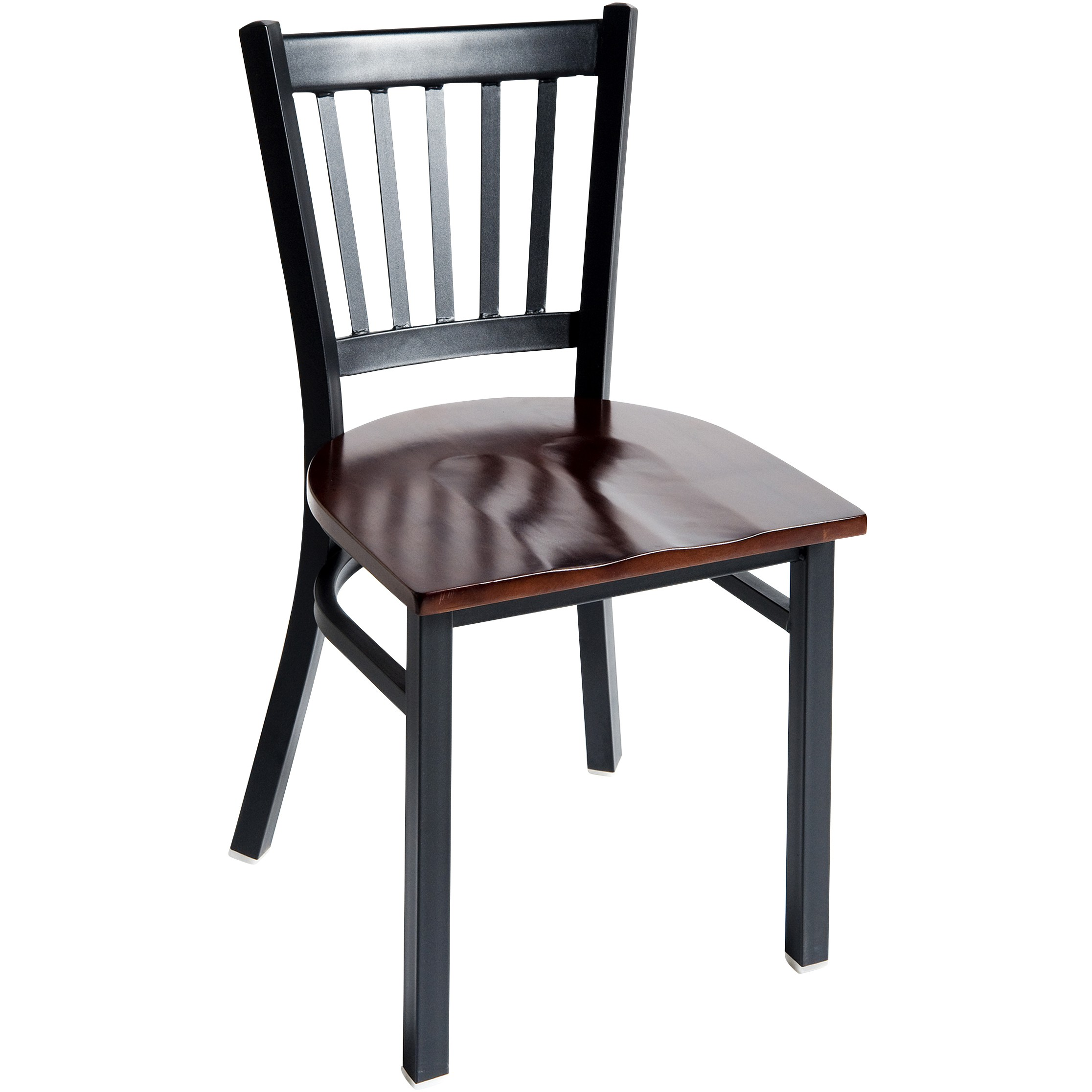 Metal Vertical Slat Restaurant Chair