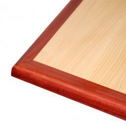 Laminate Inlay and Wood Edge Table Tops