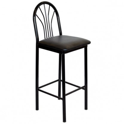 Fanback Metal Restaurant Bar Stool
