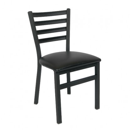 Ladder Back Metal Chair With Front Bar