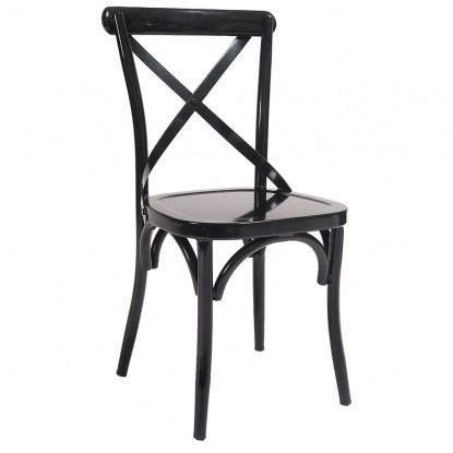 Classic X Back Metal Restaurant Chair