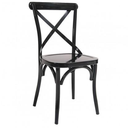 Classic X Back Metal Restaurant Chair