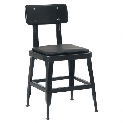 Laurie Bistro-Style Metal Chair in Black Finish