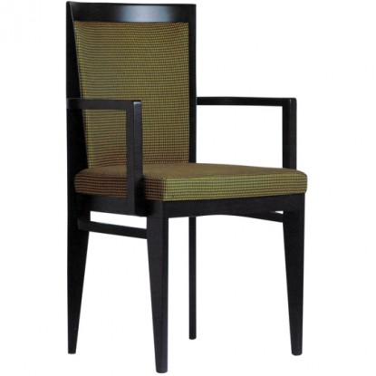 Roma Fully Upholstered Wood Arm Chair