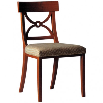 Hourglass Wood Side Chair