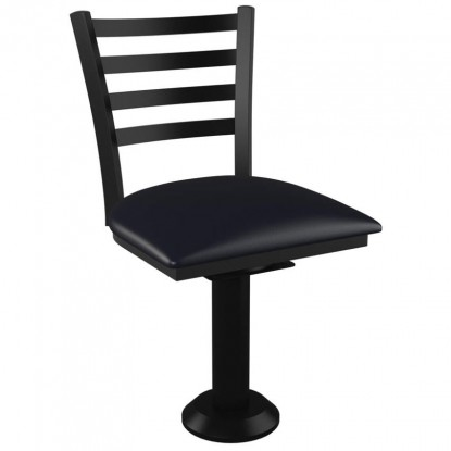 Ladder Back Bolt Down Swivel Metal Chair