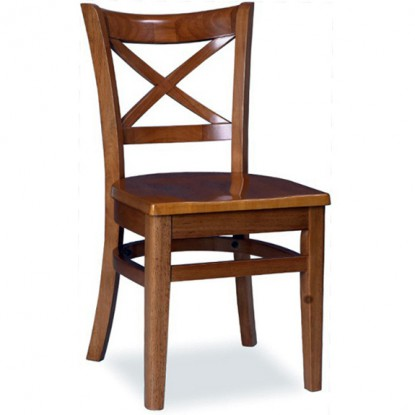 X Back Wood Restaurant Chair