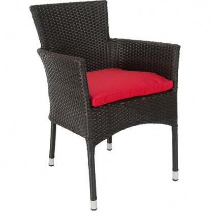 Vienna Patio Chair with Aluminum Frame and Faux Wicker