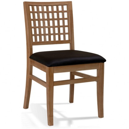 Deco Lattice Back Chair