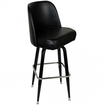 Swivel Bar Stool with Black Coated Frame