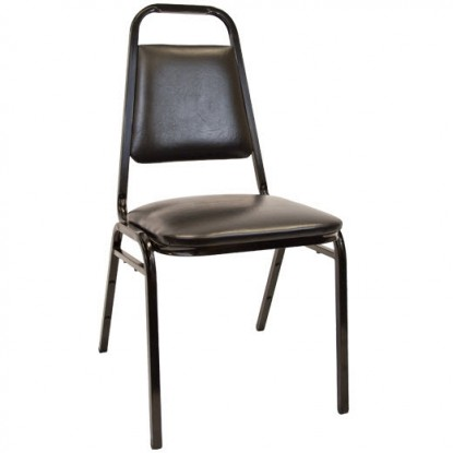 "Commercial Stack Chair With 1.5"" Thick Cushion"