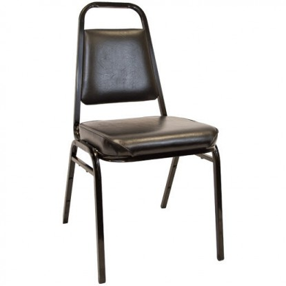"Commercial Stack Chair With 2.5"" Thick Cushion"