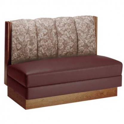 Wood Booth with Upholstered 4 Channel Back