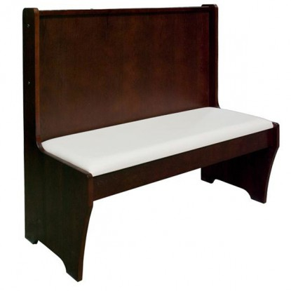 Wood Bench with Padded Seat