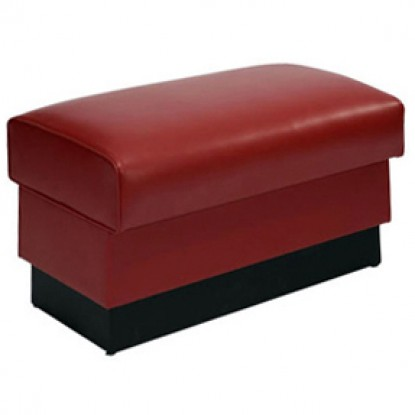 Standard Waiting Bench with Red Vinyl Seat