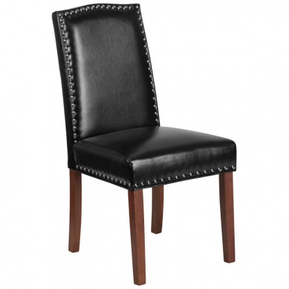 Parsons Wood Chair with Silver Nail Heads
