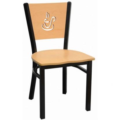 Interchangeable Coffee Back Metal Chair