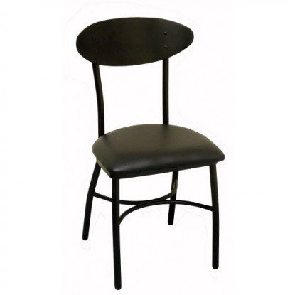 Modern Oval Back Metal Chair