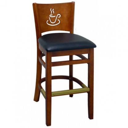 Cafe Wood Bar Stool