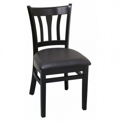 Modern Vertical Slat Wood Restaurant Chair