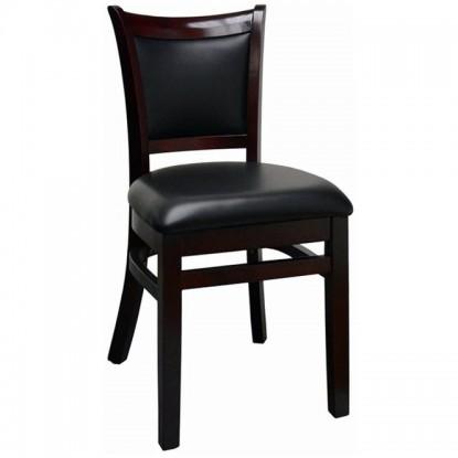 Upholstered Back Wood Restaurant Chair