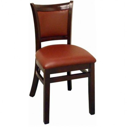 Upholstered Back Wood Restaurant Chair