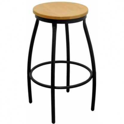 Classic Backless Metal Bar Stool