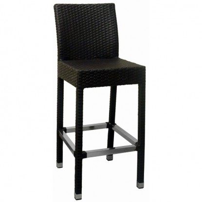 Felix Woven Rattan Patio Bar Stool