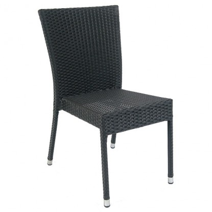Aluminum Patio Chair with Faux Wicker