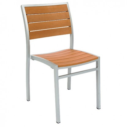 Aluminum Patio Chair with Plastic Teak