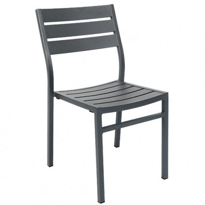 Aluminum Patio Chair in Dark Grey Finish