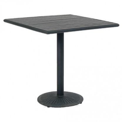 Black Finish Plastic Teak Top with Table Base