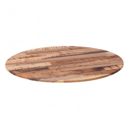 Outdoor Resin Table Top in Natural Wood Finish