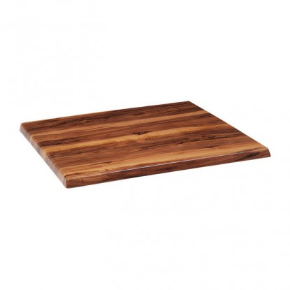 Outdoor Resin Table Top in Walnut Wood Finish
