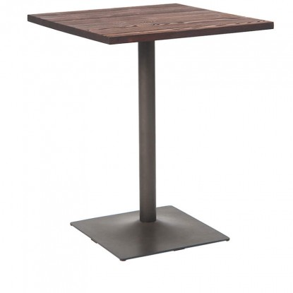 Industrial Series Table with Metal Base and Wood Top