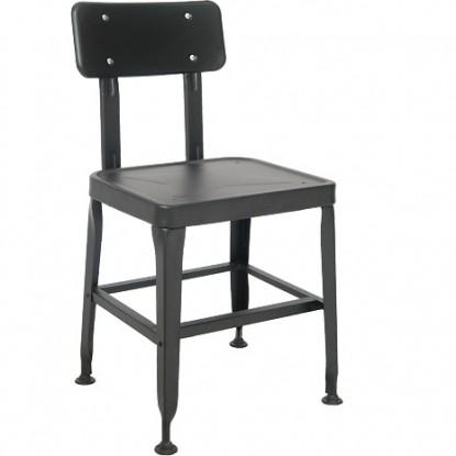 Metal Chair in Black Finish