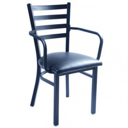 Metal Ladder Back Chair with Arms