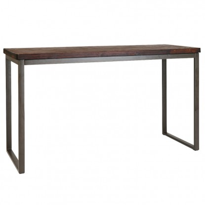 Industrial Series Bar Height Restaurant Wood Table Top with Metal Frame